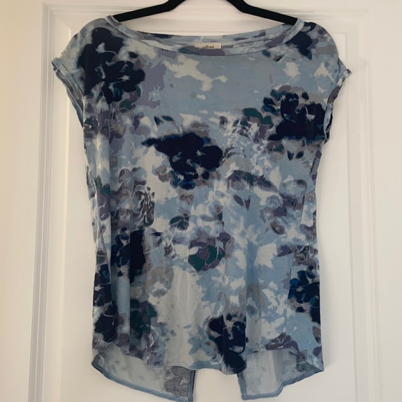Wilfred blue floral xxs top